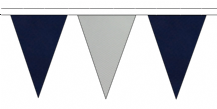 NAVY BLUE AND GREY TRIANGULAR BUNTING - 10m / 20m / 50m LENGTHS (1)
